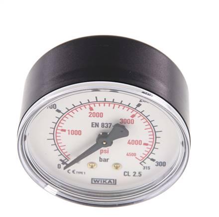 """WIKA Manomètre neutre 0-10 bar//16 bar G 1//4/"""" Ø 63 mm vertical CL 2,5"""