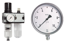 Pressure regulator - Pressure gauge - Thermometer - Preparing