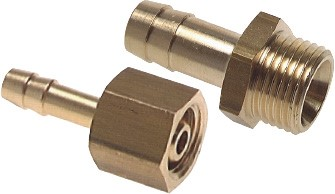 Threaded nozzle - Hose screw connection