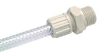 hose screw connection for fabric hose