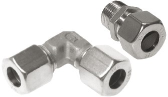 Cutting ring screw connections - compression ring fittings made of steel & stainless steel, DIN EN ISO 8434-1 (DIN 2353)