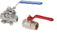 In-line ball valve with thread or welding ends
