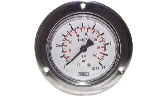 Built-in pressure gauges (also for vacuum)