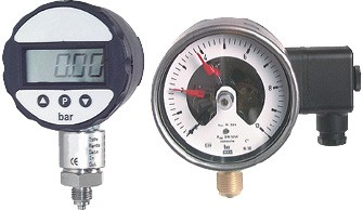 Precision pressure gauge - contact pressure gauge (also for vacuum)