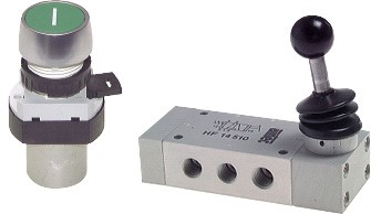 Mechanically actuated valves (3/2, 5/2 and 5/3-way)