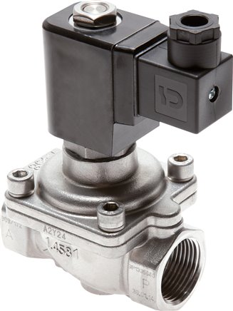 2/2-way solenoid valves from stainless steel, force controlled