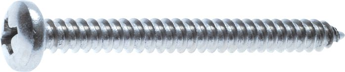 Button head tapping screws with cross recess, DIN 7981 C / ISO 7049