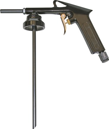 Underfloor protection-body cavity gun with flexible nozzle pipe