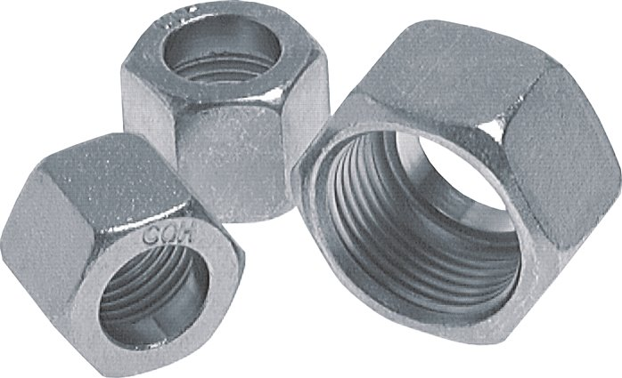 Union nuts metric, similar to DIN 7606