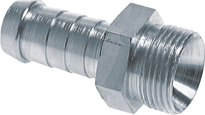 male thread hose nipple (metric) 60° internal cone, DIN 3863