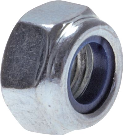 Hexagonal nuts, self-locking with plastic compression ring, DIN 985 /ISO 10511