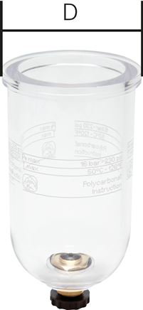 Replacement container for filters & filter regulators - Mini & standard