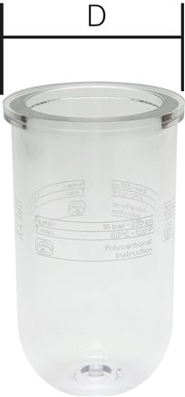 Replacement container for lubricators - Mini & standard