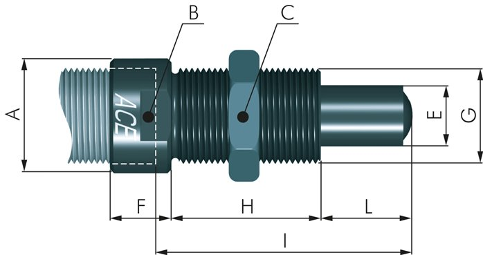 Side load adapters for shock absorbers