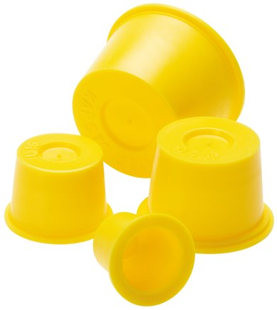 Universal safety covers & universal protective plugs for threads & tubes