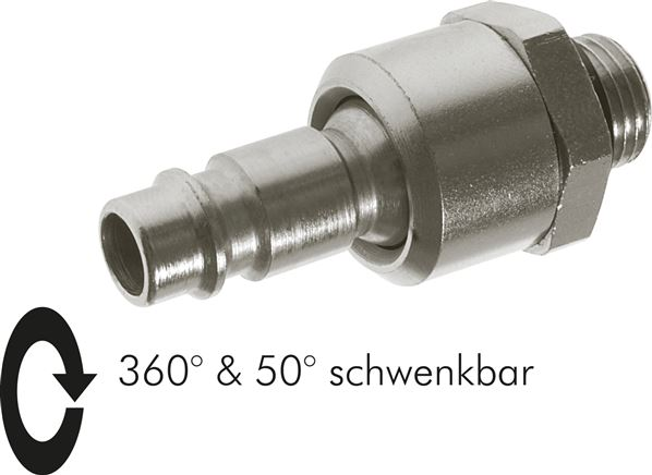 Coupling plug With Male thread & rotary joint, NW 7.2