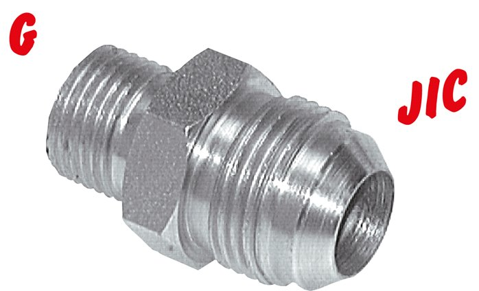 Double nipple with  G-thread / JIC-thread, up to 310 bar
