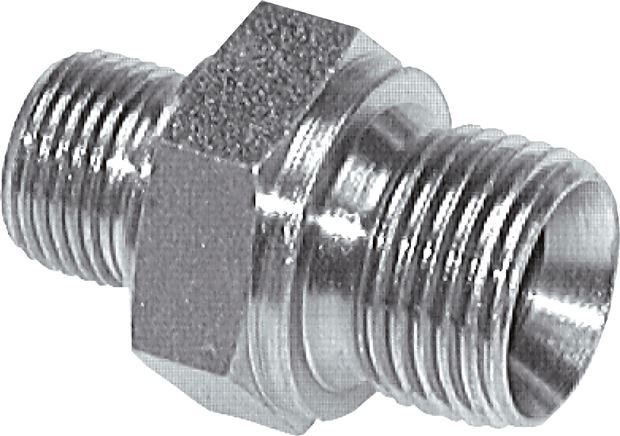 Double nipple with  inch-thread (60° conical hose nipple), up to 400 bar