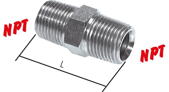 Double lips with NPT thread, up to 345 bar
