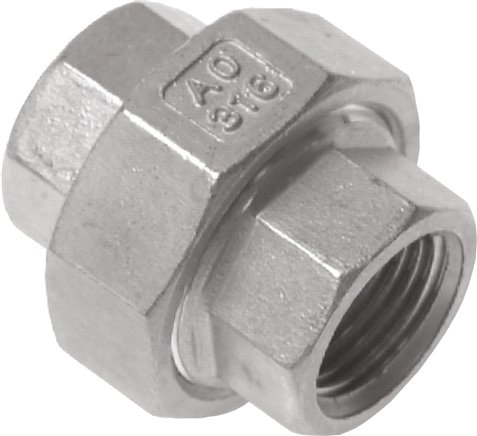 Screw connections with female thread - conically sealing, up to 25 bar
