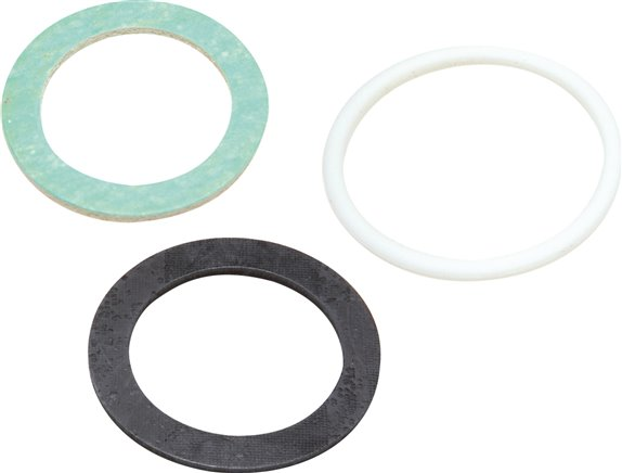 Replacement seal for flat seal, separable double nipple and screw connections