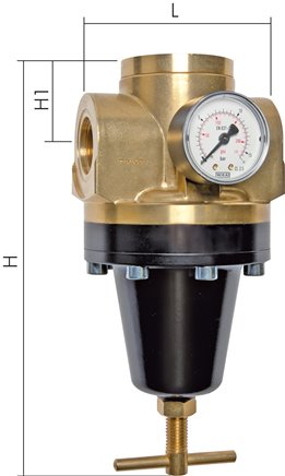 Pressure regulators for pressures, up to 60 bar