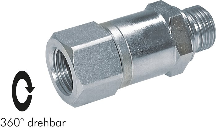 High-pressure rotary joint, up to 500 bar