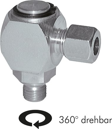 Angle swivel joints (metric), up to 10 rpm*