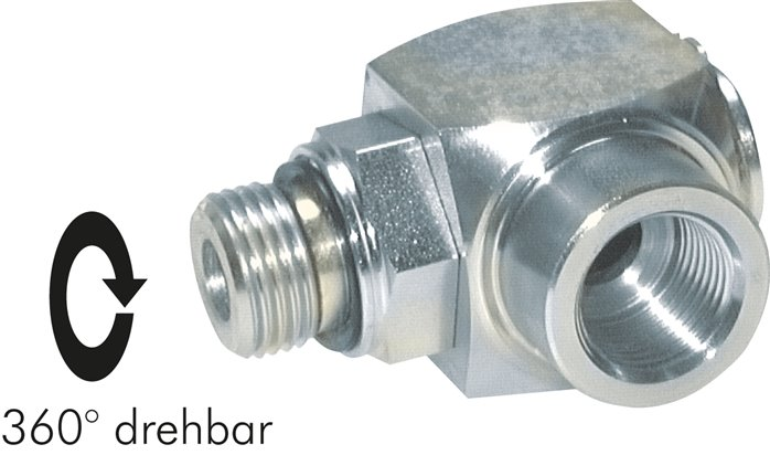 High-pressure elbow swivel joint, up to 400 bar