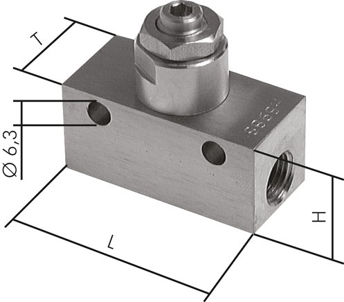 One-way control valves & choke valves made of stainless steel