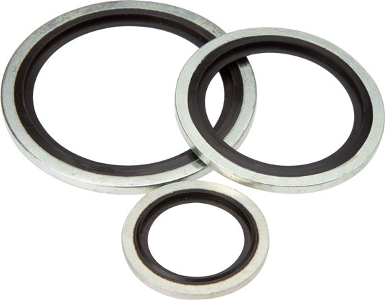 Hydraulic gaskets with NBR inserts (self-centring)