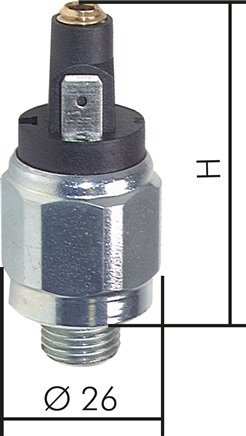 Pressure switches with flat connector, up to 350 bar