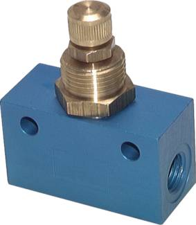 One-way flow controls with brass spindle and valve insert