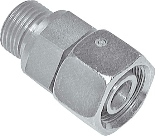 Adjustable screw in connections (metric) with sealing cone + O-ring