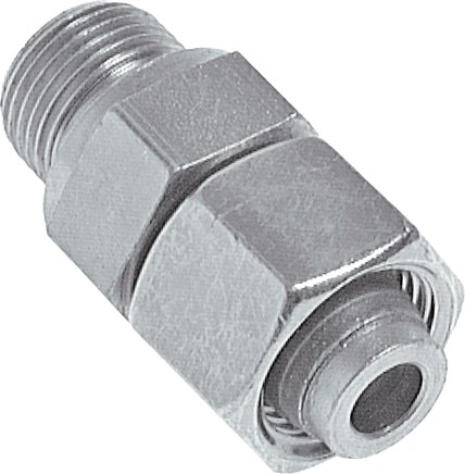 Adjustable screwed connections (metric) with pipe nozzle