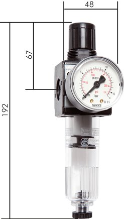 Filter regulators, model series 1, 1,600 l/min***