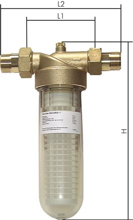Microfilter for drinking and industrial water, PN 16