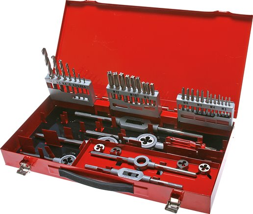 Thread cutting tool set