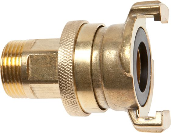 Safety garden hose quick couplings with male thread, 40 mm