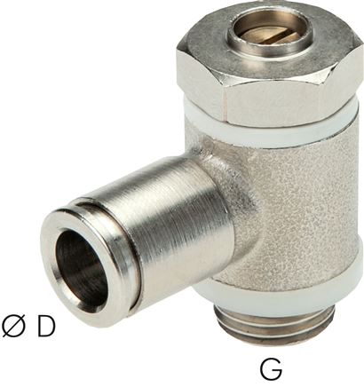One-way control valves with slotted screw, banjo bolt design, MSV
