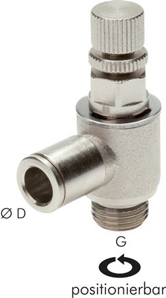 One-way control valves with knurled screw, MSV
