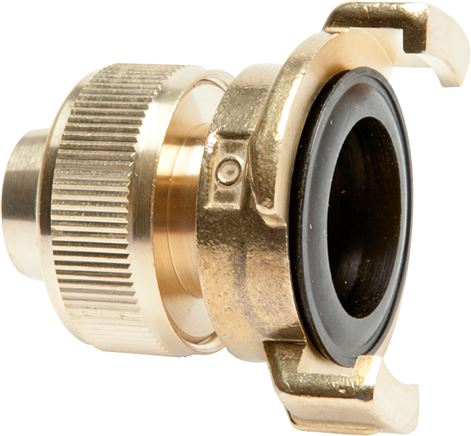 Garden hose quick couplings with screw connection for garden hoses, 40 mm