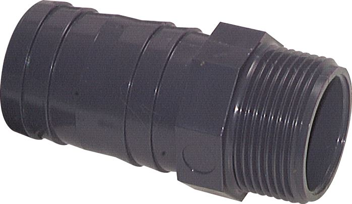 Threaded nozzles PVC-U (only for plastic threads), PN 10