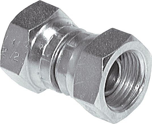 Straight screw connections with inch-thread (60° conical hose nipple), to 575 bar