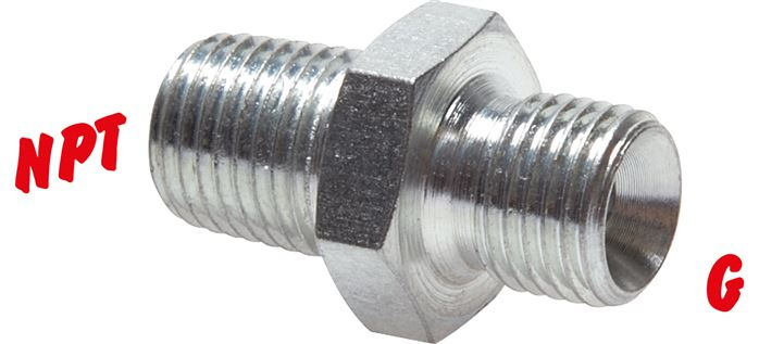 High-pressure double lips with G thread / NPT thread, up to 800 bar