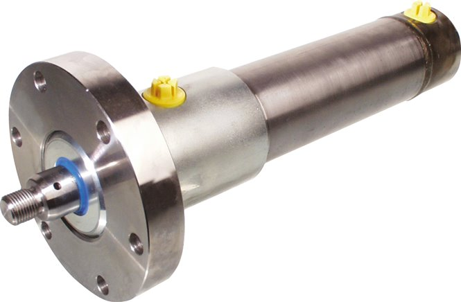 Hydraulic cylinders, type HDF, double acting with assembly flange
