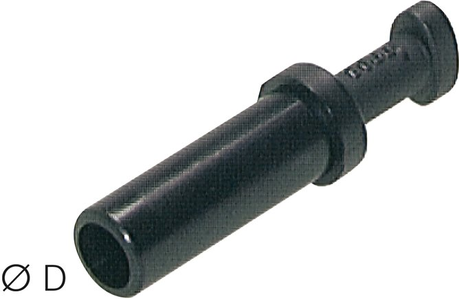 Plugs for locking push-in connectors, standard/mini