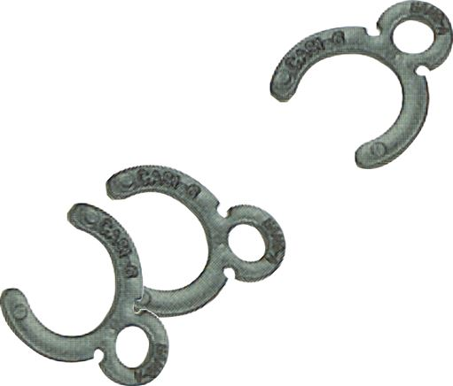 Safety rings for push-in connector, standard