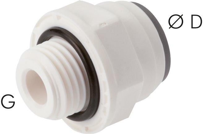 "Straight push in fittings G 1/8""-5/32"" (3.97 mm), IQS-LE (EPDM seal) (IQSG 18-5/32 G LE)"