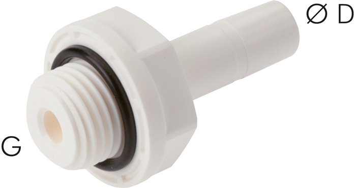 "Screw in sockets G 1/8""-6mm push in nipples, IQS-LE (EPDM-seal) (IQSG 186H G LE)"